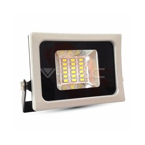 10W LED Прожектор SMD Черно/Сиво Тяло Бяла Светлина