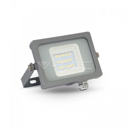 10W LED Прожектор SMD Сиво Тяло Бяла Светлина
