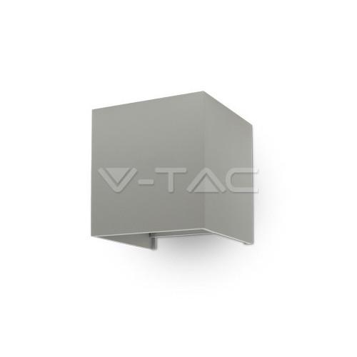 6W Аплик Сиво Тяло Квадрат IP65 Неутрално Бяла Светлина