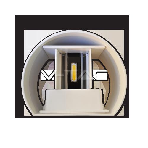 6W Аплик Бяло Тяло Кръг IP65