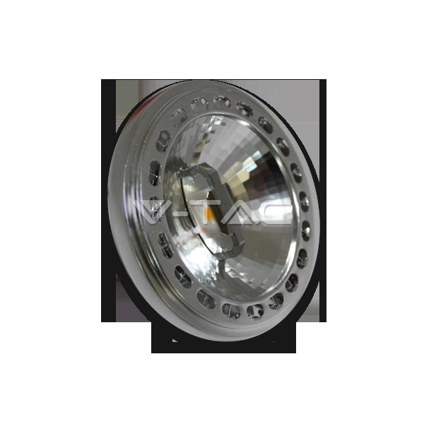 LED Крушка - AR111 15W 230V 40Градуса COB Chip Топло Бяла Светлина Димираща