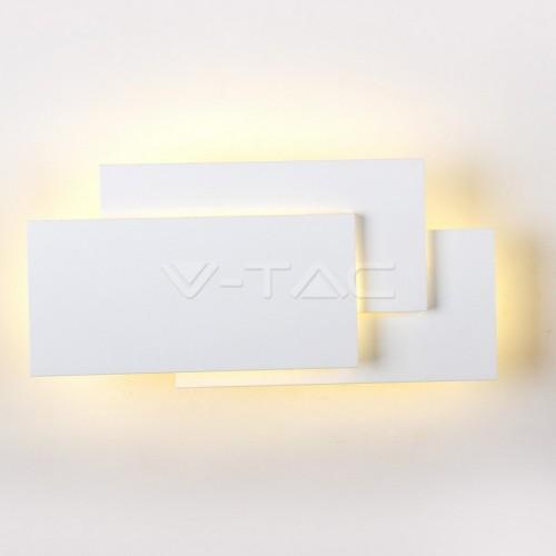 12W LED Стенна Лампа Бяло Тяло IP20 Неутрално Бяла Светлина
