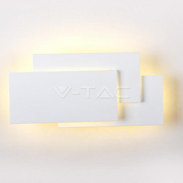 12W LED Стенна Лампа Бяло Тяло IP20