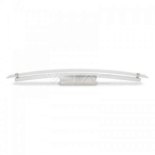 12W LED Стенна/Таванна Лампа Стъкло/Хром 4000К