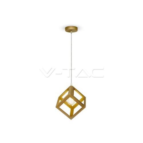 Геометричен Пендел Златно Шампанско Квадрат
