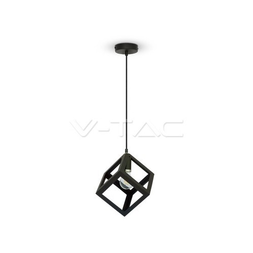 Геометричен Пендел Матово Черно Квадрат