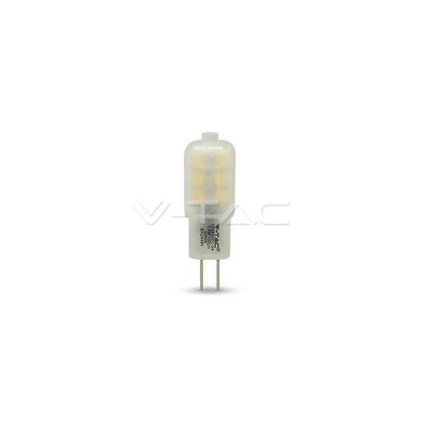 LED Крушка - 1.5W 12V G4 Пластик Неутрално Бяла Светлина