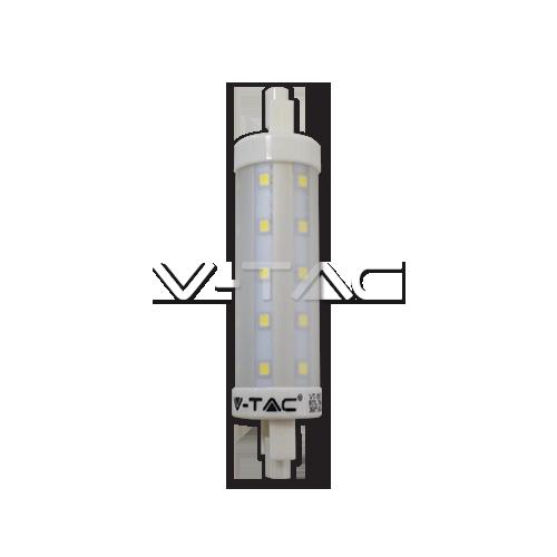 LED Крушка - 7W R7S 118 мм Пластик Топло Бяла Светлина