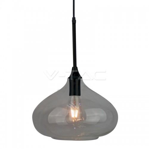 Пендел Елегантен Стъклен Дизайн Черен Ф280мм