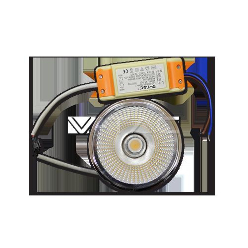 LED Крушка - AR111 20W 12V 20Градуса COB Chip
