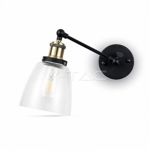 Стенна Лампа Конус Прозрачно Стъкло ф140