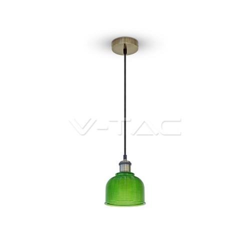 Стъклен Пендел Зелен Ф145