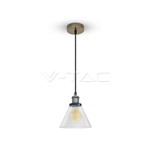 Стъклен Пендел Светло Прозрачен Ф180