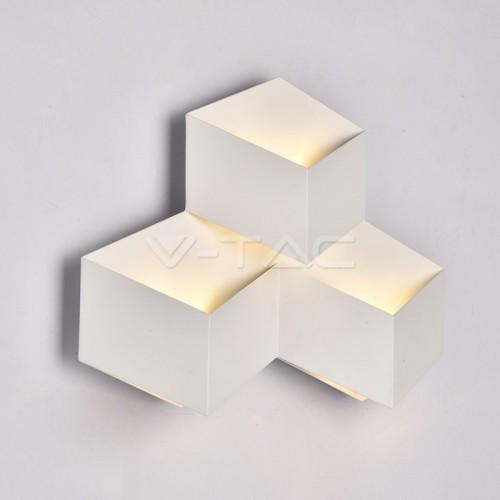 9W Стенна Лампа Бяло Тяло Неутрална Светлина IP65
