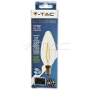 LED Крушка - 2W Filament E14 Кендъл Топло Бяла Светлина