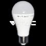 LED Крушка - 14W E27 A65 Термо Пластик Топла Бяла Светлина