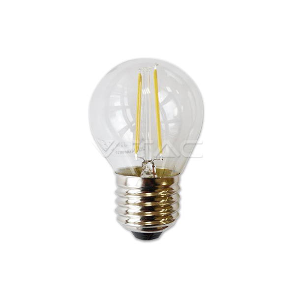 LED Крушка - 2W Filament E27 G45 Топло Бяла Светлина