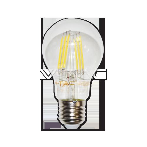 LED Крушка - 6W Filament E27 A60 Неутрално Бяла Светлина