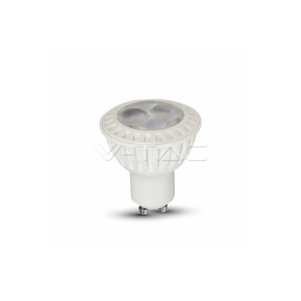 LED Крушка - 7W GU10 SMD Пластик Бяла Светлина