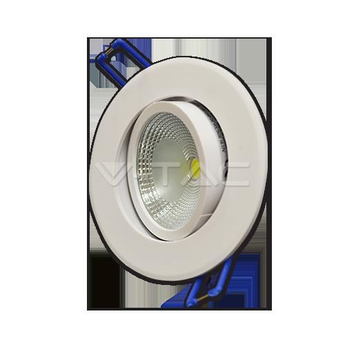 5W LED Луна COB Кръгъл Модул - Бяло Тяло Бяла Светлина