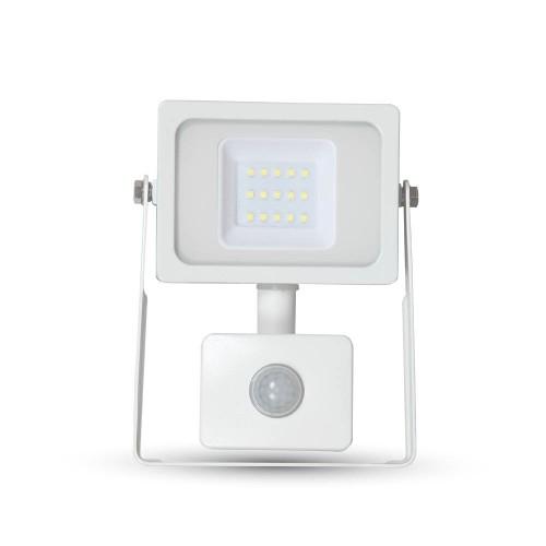 10W LED Прожектор SMD Сензор Бяло Тяло Неутрално Бяла Светлина