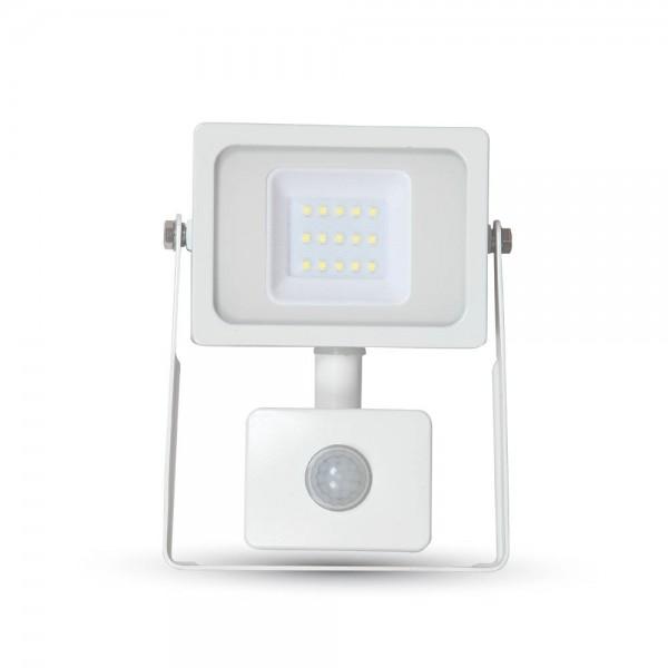 10W LED Прожектор SMD Сензор Бяло Тяло Бяла Светлина