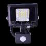 10W LED Прожектор Сензор SMD Черно Тяло Бяла Светлина
