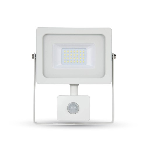 20W LED Прожектор SMD Сензор Бяло Тяло Бяла Светлина