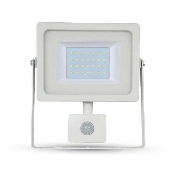 30W LED Прожектор SMD Сензор Бяло Тяло Неутрално Бяла Светлина