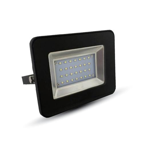 20W LED Прожектор SMD Черно Тяло Бяла Светлина