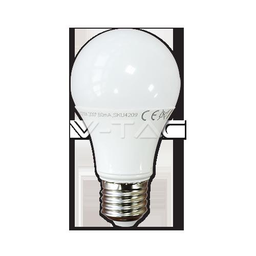 LED Крушка - 10W E27 A60 Термо Пластик