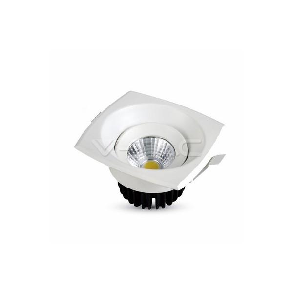 8W LED Луна COB Квадратен Модул - Бяло Тяло