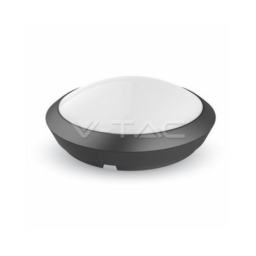 12W LED Кръгло Тяло Външен Монтаж Със Сензор Microwave Бяло Тяло IP66 Неутрално Бяла Светлина