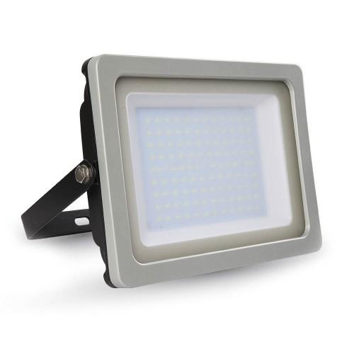 100W LED Прожектор SMD Черно/Сиво Тяло Бяла Светлина
