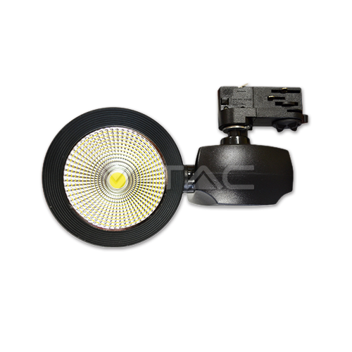 40W LED Прожектор Релсов Монтаж COB Бяла Светлина