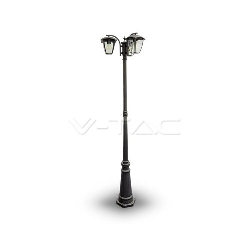 Градиснки Лампа 3ХE27 1990мм Черен IP44