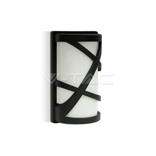 Аплик За Стена E27 Черен Мат