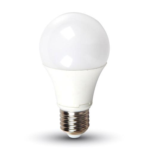 LED Крушка - 9W E27 A60 DC 24V Термо Пластик Бяла Светлина
