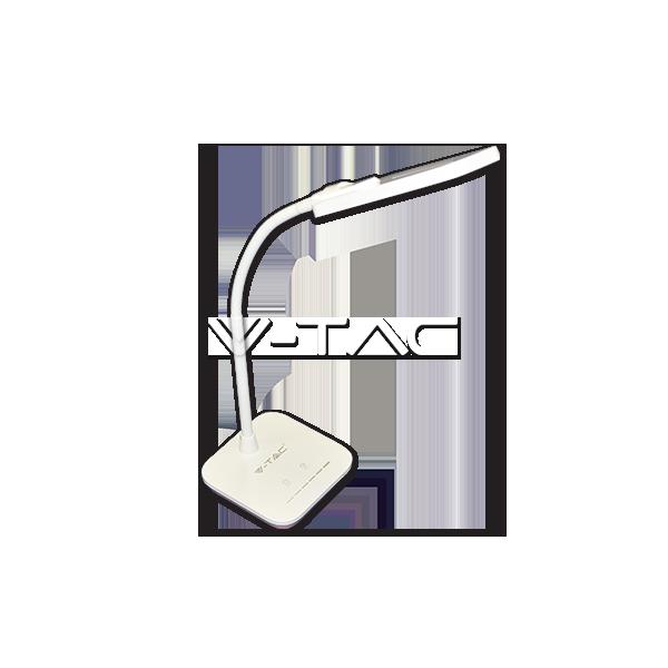 7W LED Настолна Лампа Димируема Бяла Светлина Розово Тяло