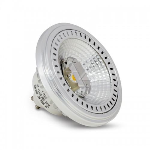 LED Крушка - AR111 12W GU10 40 Градуса COB Chip Димируема