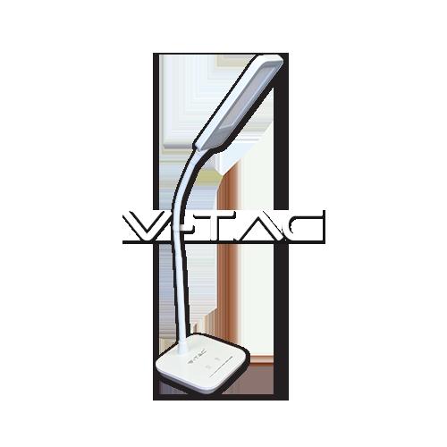 7W LED Настолна Лампа Димируема Бяла Светлина Сиво Тяло