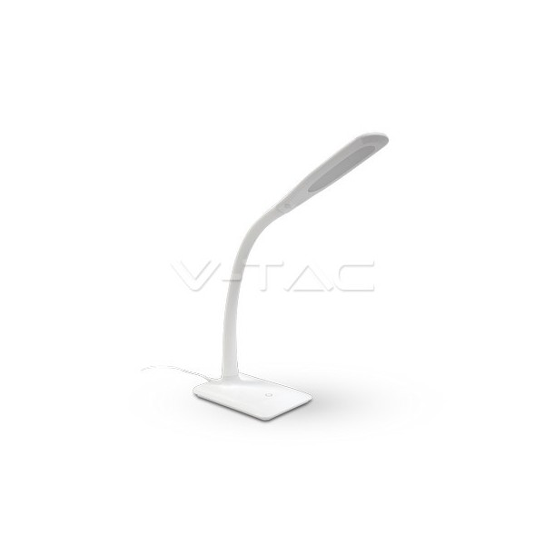 7W LED Настолна Лампа 4000К Бяло Тяло