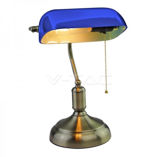 Настолна Лампа Банкер Е27 Синя
