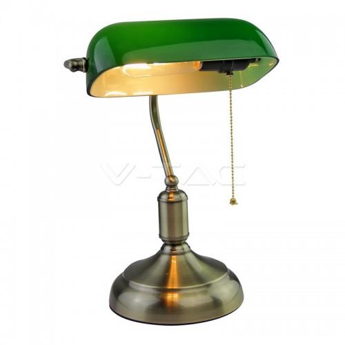 Настолна Лампа Банкер Е27 Зелена
