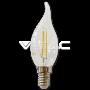 LED Крушка - 4W Filament Кръст E14 Кендъл Пламък Неутрална Светлина