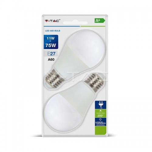 LED Крушка 11W А60 Е27 Блистер 2 бр.