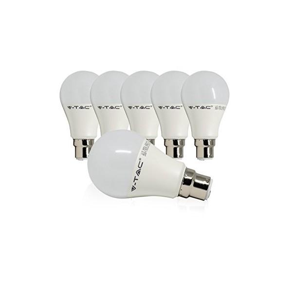 LED Крушка - 9W B22 A60 Термо Пластик