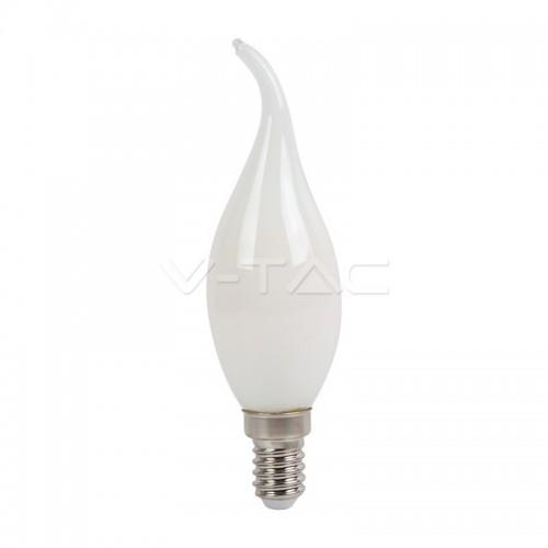 LED Крушка - 4W Filament E14 Кръст Бяло Покритие Кендъл Бяла Светлина
