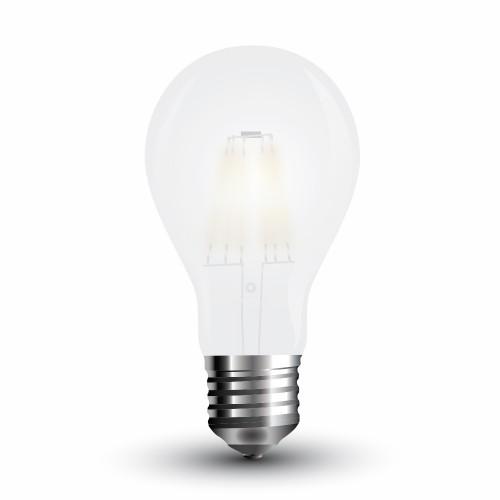 LED Крушка - 6W Filament E27 A60 Матирано Покритие Топло Бяла Светлина