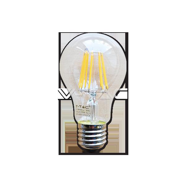 LED Крушка - 8W Filament Patent E27 A60 Топло Бяла Светлина